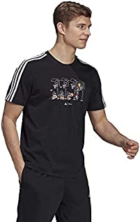 adidas Mens 3 Stripes Disney Basketball Tee Graphic Tee (Short Sleeve)