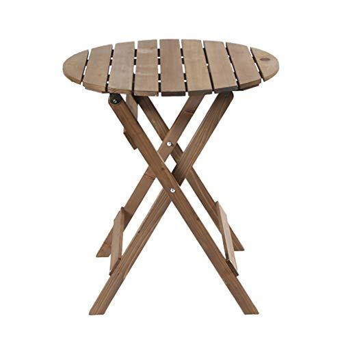 ZWJLIZI Mesas plegables y sillas, sin abeto portátil patio jardín de la tarde mesa de té, escritorio redondo