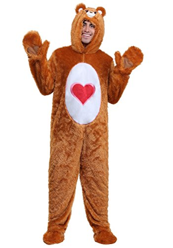 Fun Costumes Care Bears Adult Klassisches Tenderheart Bärenkostüm - S