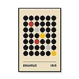 Exposición de la Bauhaus cuadros de arte de pared geométricos abstractos, carteles e impresiones minimalistas, pinturas de lienzo sin marco A3 40x60cm