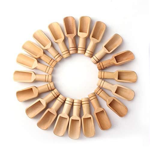 30PCS Mini wooden spoon, Mini bath salt spoon, wooden candy spoon, washing powder spoon Spoon Set Baby Spoon(3 inches long)by sansheng