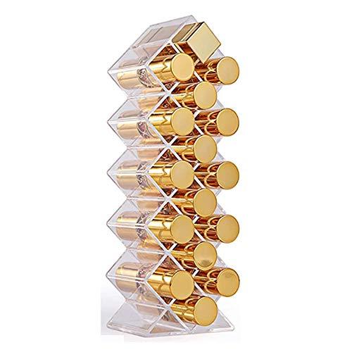 Klare Acryl-Fischform Lippenstift-Organizer-Turm, Lipgloss-Aufbewahrungshalter für 16 Lippenstifte, perfekt für Make-up-Kosmetik-Waschtische und Kommoden-Display