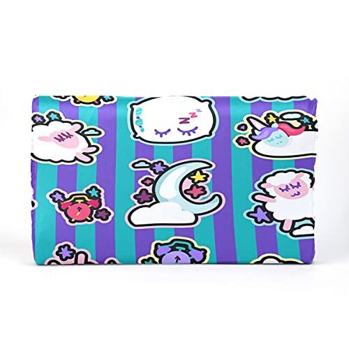 Almohada para niños pequeños con Funda de Almohada - 17 x 10 Pulgadas Almohadas de látex con Memoria Suave para bebés para Dormir por la Noche Dulces sueños Símbolos Patrones sin Fisuras Banner Vecto