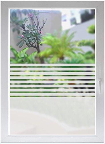 INDIGOS UG Sichtschutzfolie Glasdekorfolie Fensterfolie Stripes satiniert Blickdicht ORACAL® - 500-2000 mm - Dekoration Sonnenschutz Folie - Fenster Büro Tür Badezimmer