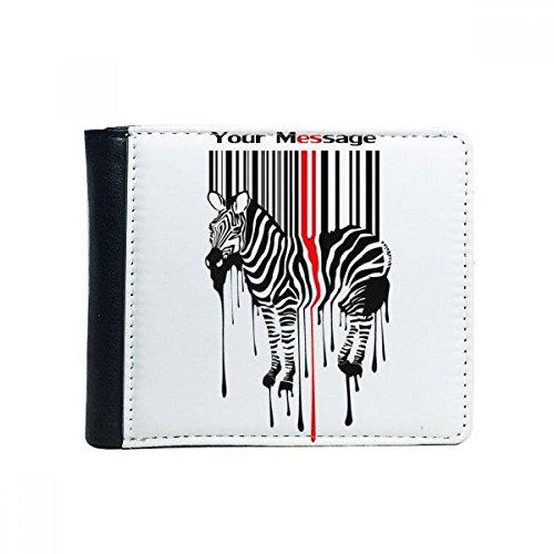 DIYthinker Flip svart röd randig kod graffiti zebra bifold konstläder plånbok multifunktions-kort-plånbok-present