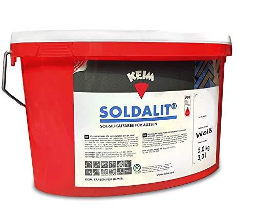 Keim 1111421 Soldalit Fassadenfarbe weiß in 5kg