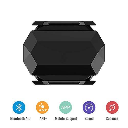 Juanya Geschwindigkeits-Trittfrequenz Sensor für Fahrrad Dual Modul Bluetooth Geschwindigkeitssensor mit ANT+ Multi-Protokoll Dual-Use-Sensor für GPS-Codetabelle und Fahr-APP,C61 Trittfrequenzsensor