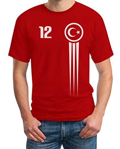 Türkei Türkiye Trikot Fanshirt EM 2021 Fanartikel EM T-Shirt 5XL Rot