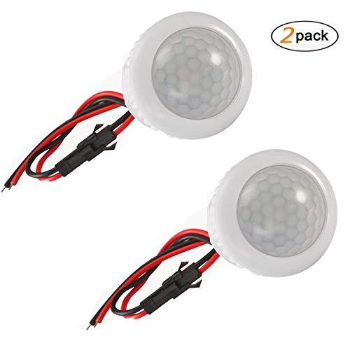 Motion Sensor Switch, DDSKY Smart PIR LED Sensor Switch Motion Sensor Detector Safe Lights Sensor for Bathroom, Bedroom, Hallway, Kitchen (Pack of 2)
