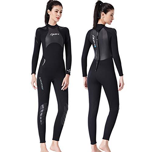 YRX Traje de buceo de neopreno de 3 mm, apto para natación, surf, traje de buceo, para hombre, mujer, talla L