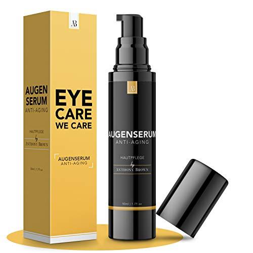 NEU: Augencreme Männer - 3-FACHE GRÖSSE 50ML - 100% natürlich mit Hyaluronsäure, Vitamin C, E und B5 - hautfreundliches Augenserum - Augencreme gegen Falten und Augenringe entfernen