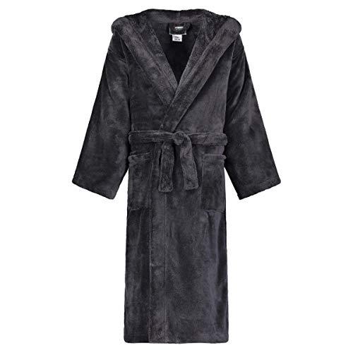 Star Kids Robe Soft Plush Hooded Fleece Robe Sleep Robe Bathrobe Boys & Girls (18-20, Black)