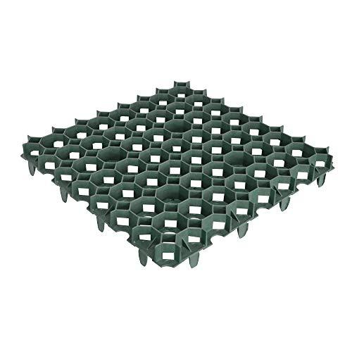 Jardibric - Dalle à Gazon 50 x 50cm - Dalle à engazonner Vert 100% Recyclé