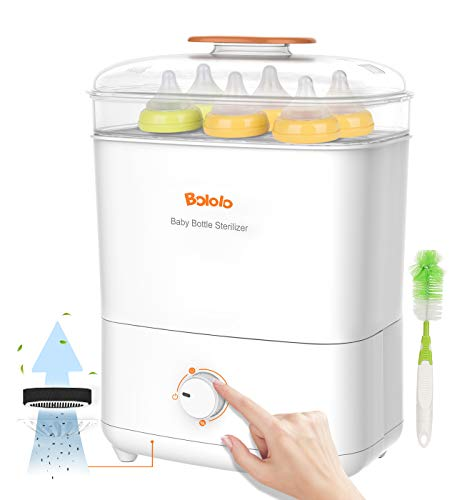 Bololo Baby Bottle Electric Steam Sterilizer and Dryer | 600W Stronger Power sanitize | HEPA Filter air Purification | Drying time Control Function | Auto ShutOff