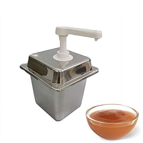 YUCHENGTECH 2L Sauce Dispenser Pomp Roestvrij Staal Condiment Pomp Squeeze Condiment Gooi Emmer voor Ketchup/Mosterd/Siropen/Chocolade/Kaas, D, 1