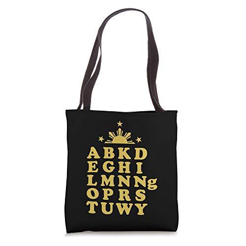 ABKD Tagalog Alphabet Philippine Sun Tote Bag