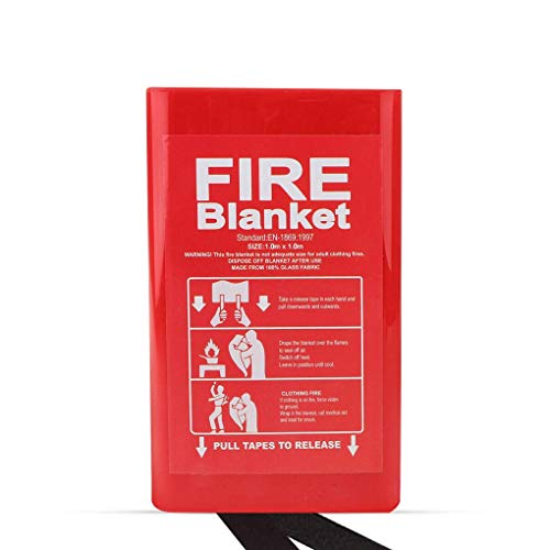 Emergency Fire Blanket for Survival Kitchen Fireplace Welding Camping Fire Suppression Fiberglass Safety and Insulation Cover