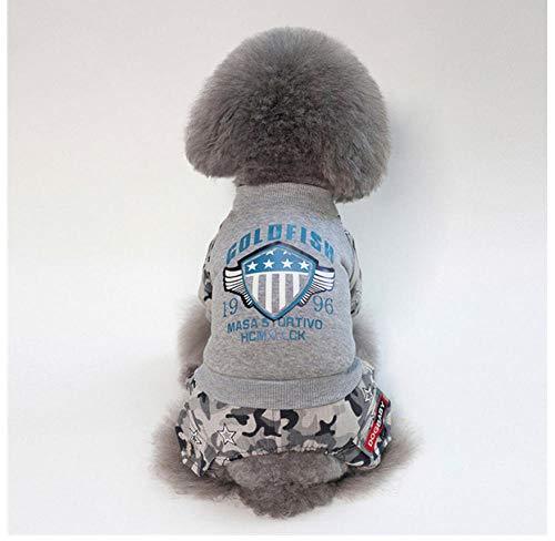 MUXIAND En Winter Huisdier benodigdheden Hond Kleding Pilot Patroon Huisdier Jas Zachte Spandex Puppy Hond Kleding Hond Kleding, XL