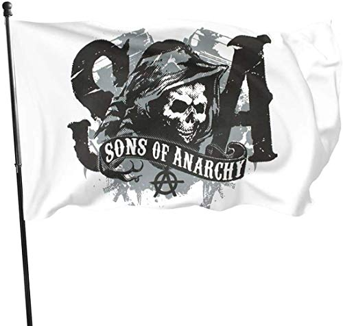 HJEMD 3x5 FT Classic Outdoor Sons of Anarchy Gartenflagge
