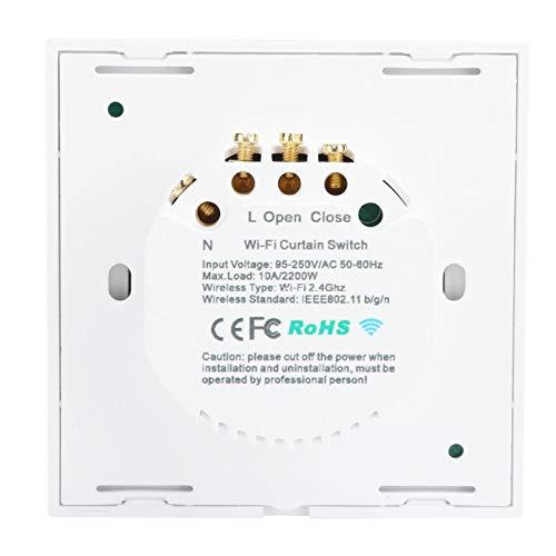 Interruptor táctil Función de Temporizador de 2200 W WiFi Smart Switch para iOS/Android OS. Adecuado para Dormitorio, Sala de Estar, Comedor.(Black Cover (2273003), Transl)