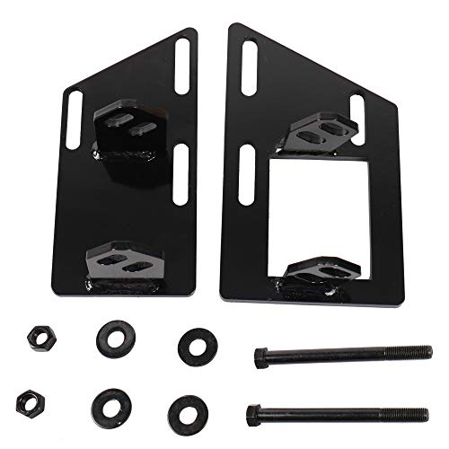 MOSTPLUS Motor Mount Swap Brackets Compatible For Chevrolet S10 S15 Blazer Jimmy Sonoma V8 SBC 350 Conversion