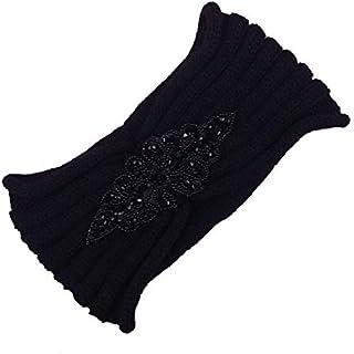 Yunskynomiseファッショナブルなデザインワイド菱形掘削ウール髪ベルト女性レディーカチューシャ弾性ヘアアクセサリー独自さん