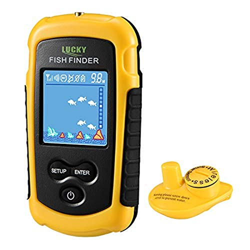 LUCKY Fischfinder Wireless Farbe Tragbarer Portable Angeln Sonar Sensor LCD Tiefe Finder Echolot