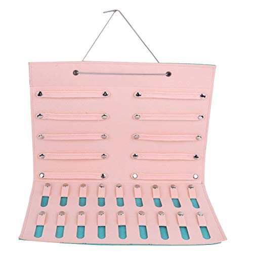 Hanging Jewelry Display Organizer, Storage Felt Foldable Bag Wall Mounted Children Display Multi-Functional Holder for Jewelry Earrings Hairpin Necklaces(Khak)