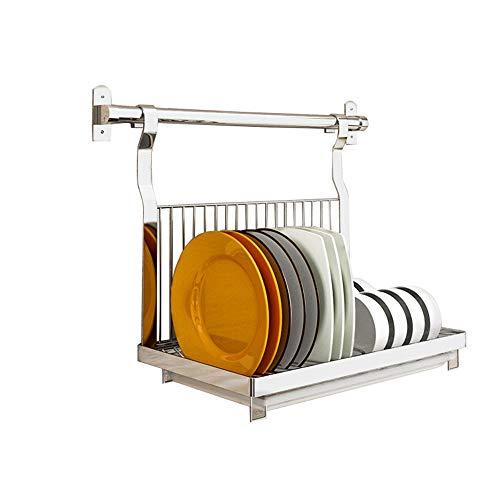 Dish drainer rack Plato escurreplatos Cocina de Pared montado en Acero Inoxidable...