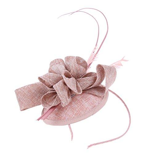 Homyl Tocado de Pelo Diadema con Pluma Flor Sombrero de Cabello para F