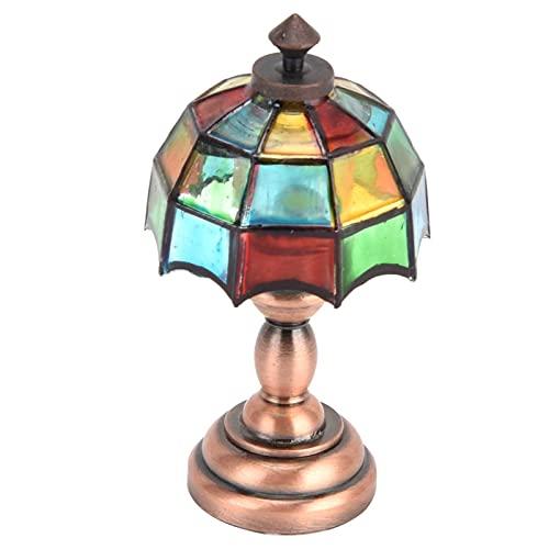 SONK 1:12 Iluminación de casa de muñecas DIY, lámpara de Mesa LED para Muebles Lámpara de pie LED en Miniatura Luz 1:12 Casa de muñecas en Miniatura Mini luz para casa de muñecas 1/12