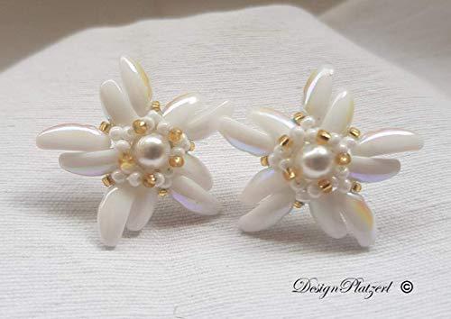 Ohrringe Edelweiss mit Perle