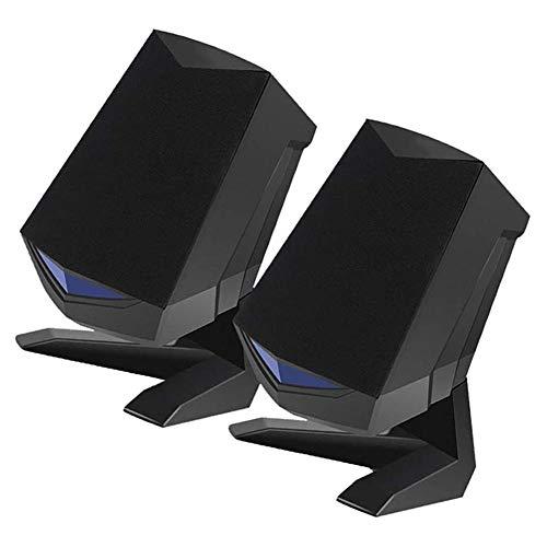 Find Bargain Lightcolor 3D Desktop Audio Speaker Laptop Speakers,Intelligent Noise Reducing Portab...