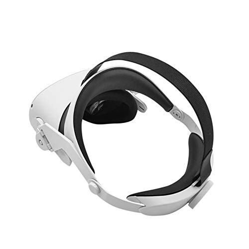 Head Strap for Oculus Quest2 VR Headset - Adjustable Ergonomic Headband Pressure Reducing Sponge Pad Head Cushion Gaming Headset Replacement Accessories