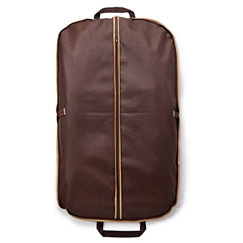 ROGF Travel Storage Bag Hanging Storage Suit Bag Dress Outer Coat Travel With Clear Window For travel (Color : Brown, Size : L)