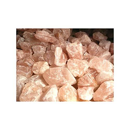Cuarzo Rosa en Bruto Calidad A (Pack 2 kg) Minerales y Cristales, Belleza energética, Meditacion, Amuletos Espirituales