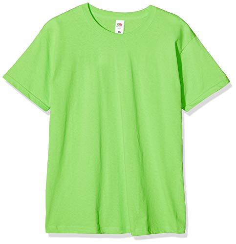 Fruit of the Loom Herren Original T. T-Shirt, Grün (Limette), XL