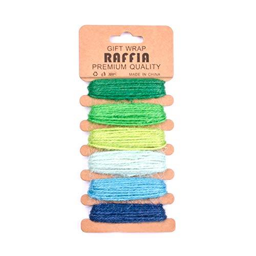 1 Paquete De Hilo 6 Carta De Colores Cuerda De Cáñamo Natural Muy Du