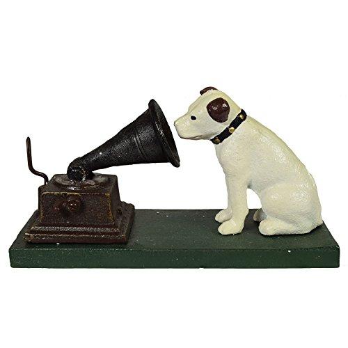 AB Tools HMV Nipper Dog and Phonograph Gramophone Music Ornament Figurine Cast Iron
