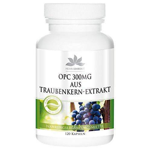 OPC 300mg aus Traubenkern-Extrakt - 120 Kapseln - vegan - hochdosiert
