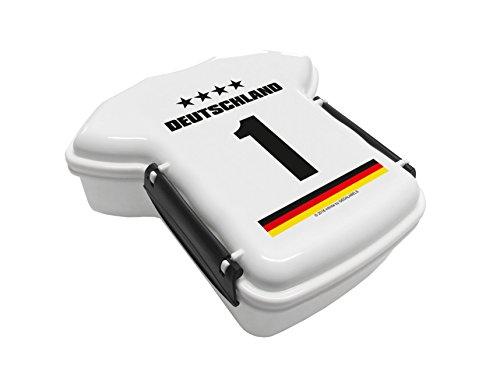 infinite by GEDA LABELS Trikot Deutschland 1 Brotdose, Plastik, weiß, 16.5x17.5x7 cm