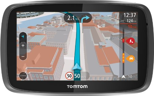 TomTom Go 600 Speak & Go Auto-Navigation (15 cm (6 Zoll) Touchscreen, micro-SD Kartenslot) schwarz