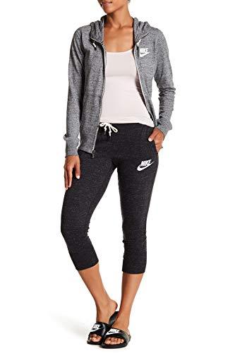 Nike Women's Gym Vintage Sport Casual Capris (Small, Black)