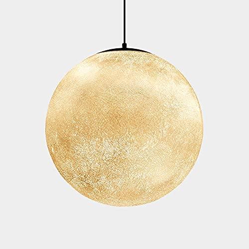 CAIMEI Lámpara Colgante de Iluminación Colgante para Dormitorio Infantil con Forma de Luna, Lámpara Colgante de Hadas para Comedor, Dormitorio, Decoración de Sala de Estar, Enchufe E27