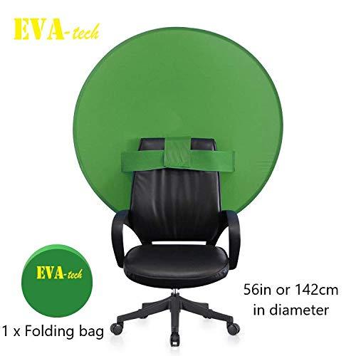 EvaTech Chromakey Webkamera-Hintergrund, 142 cm, Grün
