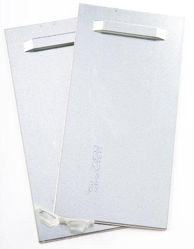 Klebebleche, Spiegelaufhänger bis 24kg (10x20 cm), Aufhänger für Spiegel, Alu-Dibond, Aluminiumplatten. selbstklebend