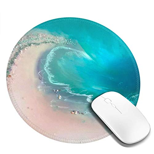 Gaming Mouse Pad Gaming Round Desk Decor for Women Non-Slip Base, Water-Resistant, for Work & Gaming, Office & Home 20cm