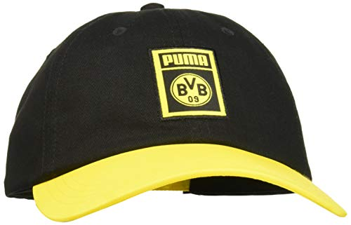 PUMA BVB DNA Cap Black-Cyber Yellow, OSFA