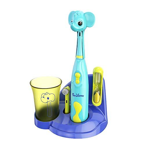 Brusheez Hijo de cepillo de dientes eléctrico set (safari edition) - incluye...
