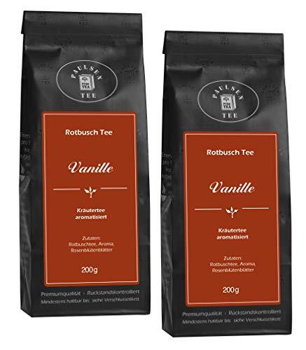Vanille 2 x 100g (49,75 Euro / kg) Paulsen Tee Rotbuschtee rückstandskontrolliert